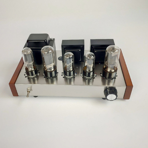 Image 2 - 2020 Nobsound Home Audio Tube Amplifier Stainless Steel Case 5Z4P+6H8C+6P3P Mounted Tube Amplifier Output 8W+8W AC110V/220V