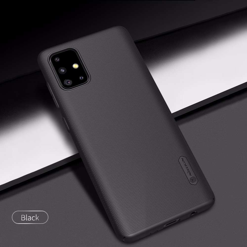 Case For Samsung Galaxy A71 Frosted Matte PC Hard Back Cover Case For Samsung A71 Gift Phone Holder