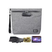 กลิ่นกระเป๋าล็อคกลิ่นProof Stash Caseคอนเทนเนอร์สำหรับสมุนไพร; ยากล่องล็อคกระเป๋ากระเป๋าเดินทาง