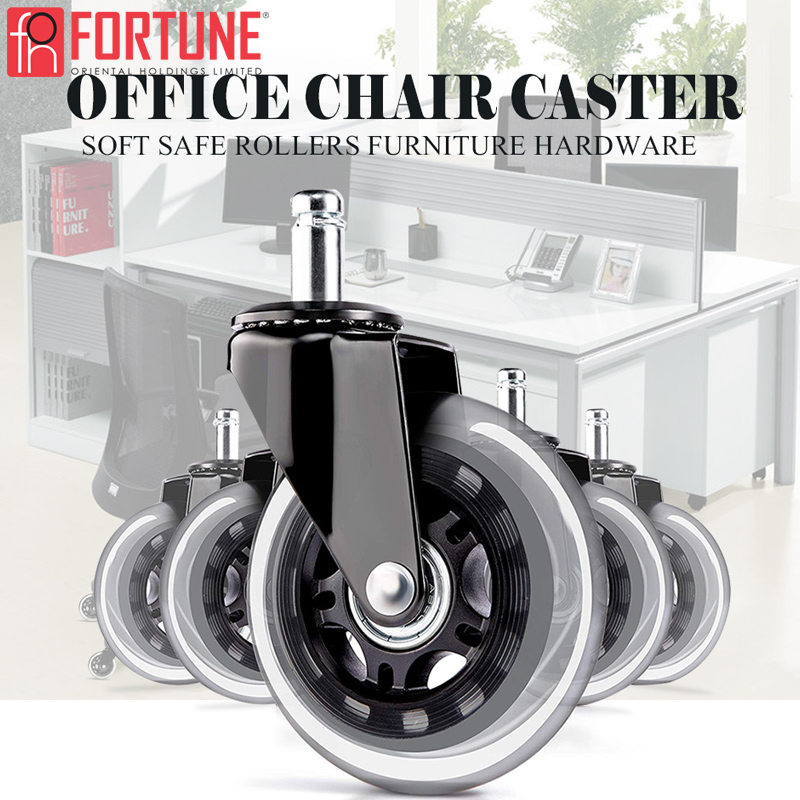 Roda resistente de borracha para cadeiras, entrega rápida, rodas de borracha para cadeiras de escritório, móveis-0