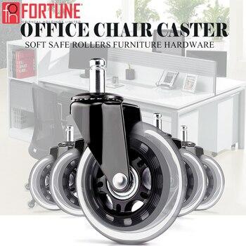 Roda resistente de borracha para cadeiras, entrega rápida, rodas de borracha para cadeiras de escritório, móveis