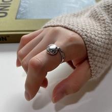 High quality fashion dazzle Korean sterling silver 925 women's geometric irregular creative opening adjustable ring jewelry