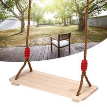 Wood Hanging Rope Seat Kids Children Swing Garden Playground Play Toys Kids Swing Hammock Cuddle Steady Seat Swing Outdoor cheap In-Stock Items SKU849870 Type 5-7 Years 8-11 Years 12-15 Years Grownups 6 years old 8 years old
