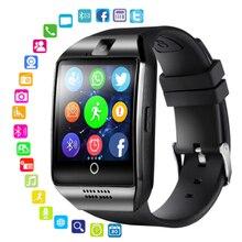 Q18 Смарт-часы камера Sim карта TF смарт-браслет Bluetooth спортивный сенсорный экран умные часы для мужчин для телефона Android DZ09 a1