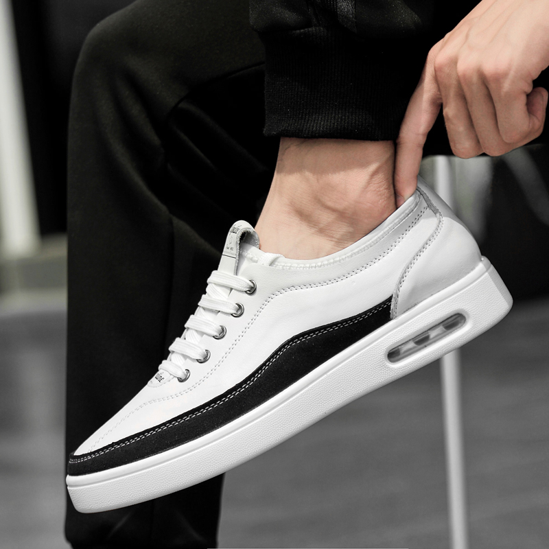 Korean Version Men' Genuine Leather Shoes Casual Shoes Fashionable Styling Qualiy Brand Formal Work Dress Comfortable Flats