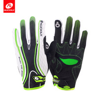 Nuckily Mountain Bike Anti slip Touch Screen Full Finger Riding Gloves Fixed Gear Bicycle Shock Absorption Full Finger Gloves