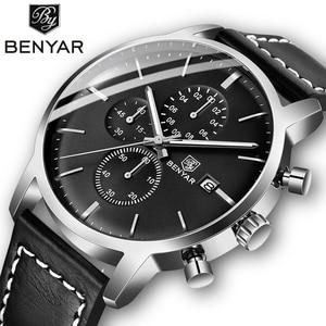 Image 1 - 2019 חדש BENYAR גברים של שעונים מקרית אופנה הכרונוגרף/30M עמיד למים/ספורט שעונים גברים שעוני יד גברים reloj Hombre