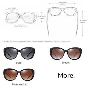 Image 2 - PARZIN Quá Khổ Kính Mát Nữ Thương Hiệu Cao Cấp Phân Cực Với UV400 Ống Kính Bướm Kính Chống Nắng Vintage Kính Mắt Oculos De Sol
