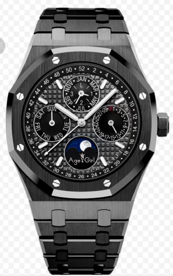 Luxury Brand New Men Watch Automatic Mechanical GMT Moon Phase Sapphire Full Black Luminous Blue Grey Watches Glass Back AAA+