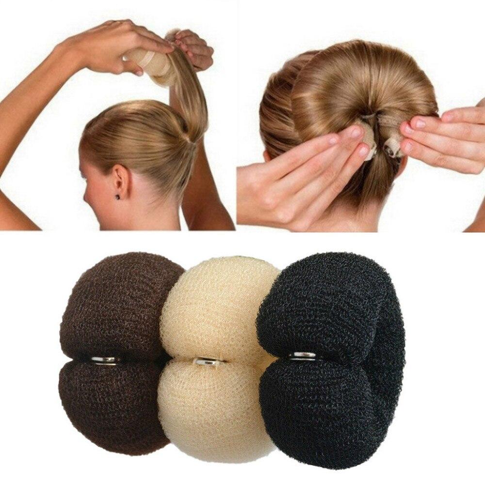 Donut para el cabello para mujer, esponja de espuma mágica, anillo grande, herramientas de estilismo para el cabello, accesorios para el cabello, 15
