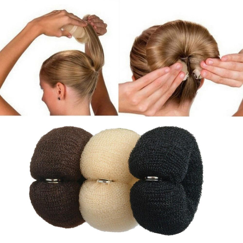 Для женщин волос производитель пончик волшебный Поролоновый спонж большое кольцо Инструменты для укладки волос продукты прическа аксессу...