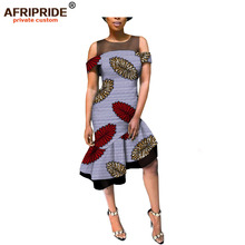 2019 summer casual african dress for women AFRIPRIDE customized sleeveless knee length chiffon and cotton A1825075