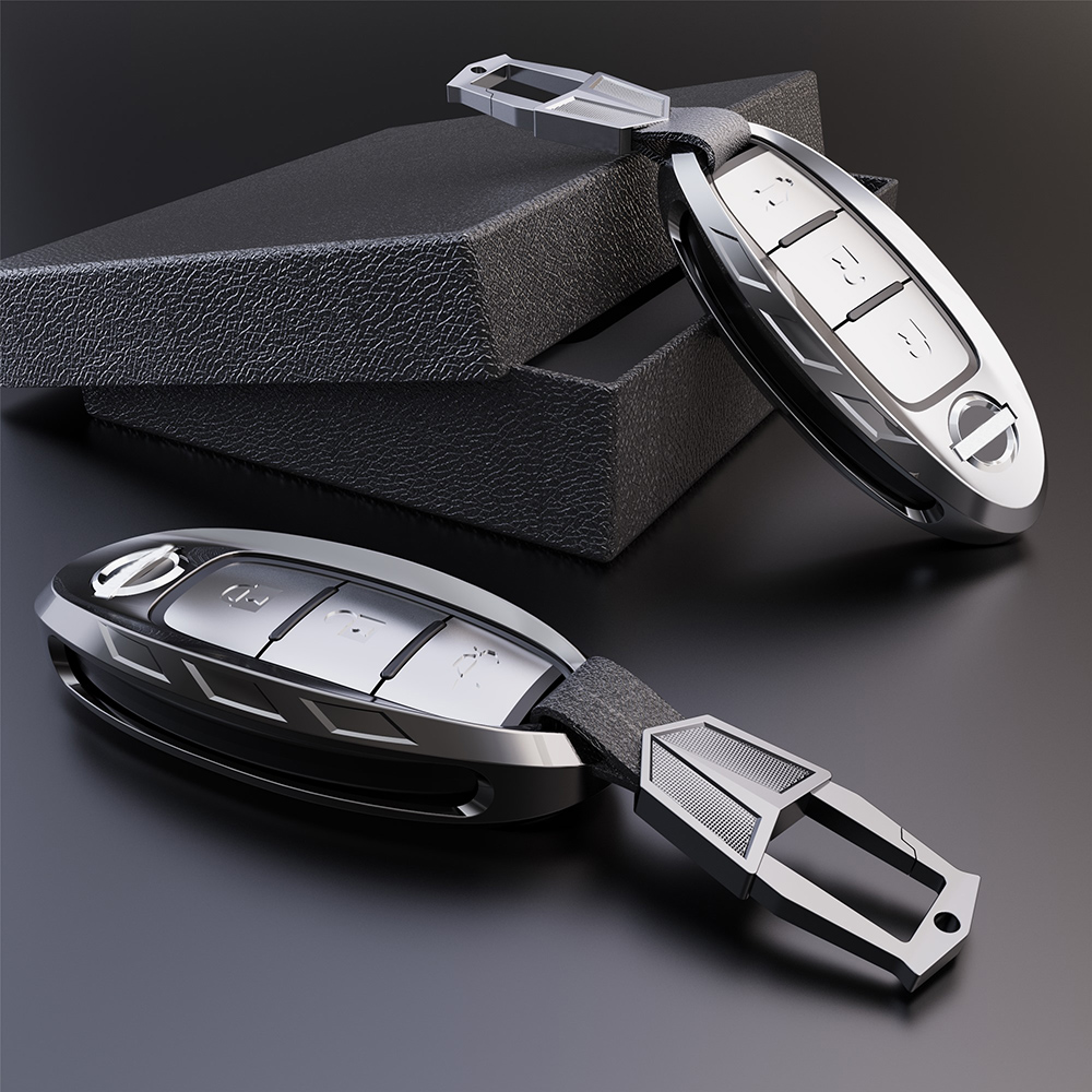 Aerospace zinc alloy Car Key Case Cover  For Nissan Qashqai J10 J11 X-Trail t31 t32 kicks Tiida Pathfinder Murano Note Juke