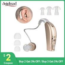 AGDOAD USB şarj edilebilir Mini işitme cihazı kablosuz kulak işitme cihazları aparatı yaşlı sağır ayarlanabilir ses amplifikatörü