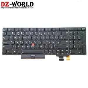 Image 1 - Yeni/orijinal RU rus için arkadan aydınlatmalı klavye Lenovo Thinkpad T570 P51S T580 P52S Laptop arka işık rusya Teclado 01ER605 01ER564