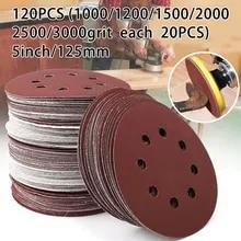25pcs 125mm 5inch Mix Grit Sander Disc Sanding Polishing Paper Pads Abrasive Sandpaper Set Granularity:800//1000//1500//2000//3000