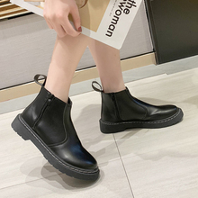 XZ030 Fashion PU Leather Boots Women Ankle Length Boots Spring Autumn Martin Boots Women Shoes Short Boots Black Chelsea Boots vankaring new shoes 2018 spring autumn european and american style fashion women pu ankle boots for women chelsea date boots