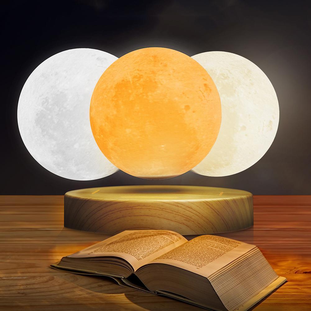 Lámpara de luz de Luna lámpara de escritorio de impresión 3D suspensión magnética para luz de hogar Luz de escritorio Luz de estudio luz Led Luz de cama - 3