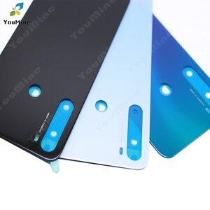 Image 5 - עבור Xiaomi Redmi note8 חזרה סוללה כיסוי זכוכית שיכון דלת אחורי מקרה להחליף אין מצלמה עדשה עבור Redmi הערה 8 פרו בחזרה דיור