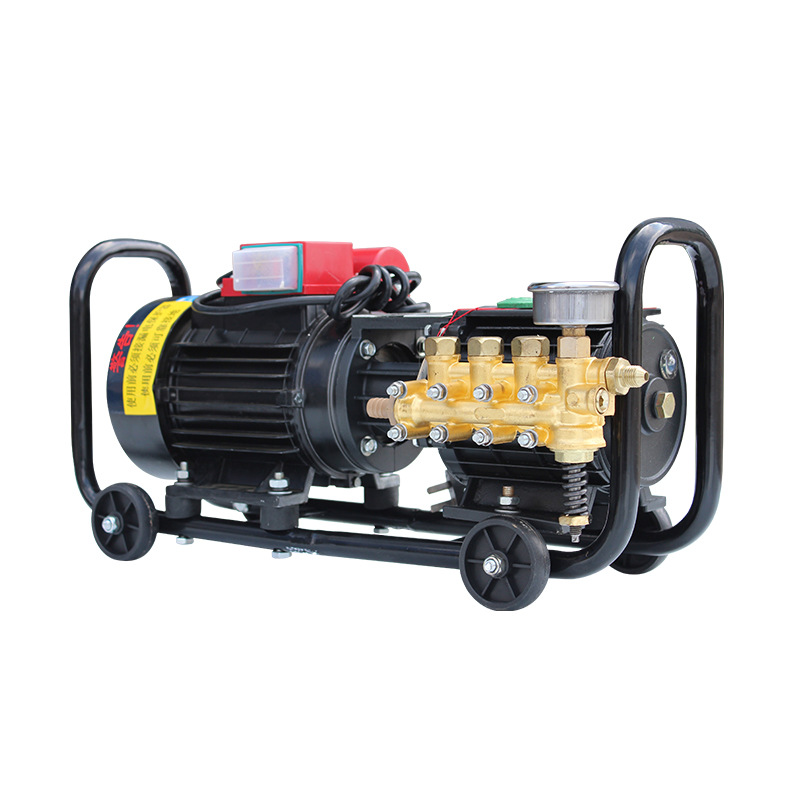 QL-280 High Pressure Washer Pump 220V AC 1.6KW Commercial Cleaning Machine Wheeled Car Washer 10LPM 1-6MPA For Car Washing Shop