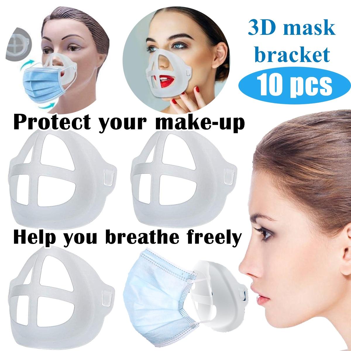 CREA m/ás Espacio para Respirar Protege la respiraci/ón sin Problemas 5 Piezas 3D Soporte de Silicona para Face Bracket,Aclouddates Almohadillas nasales Soporte de protecci/ón para l/ápiz Labial