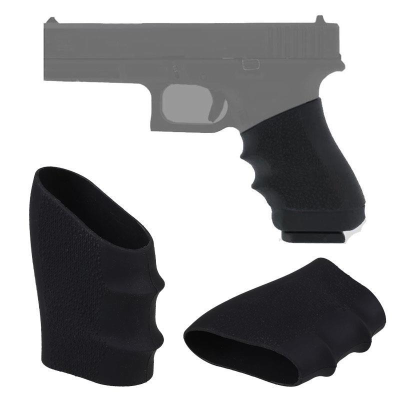 Rubber Grip Sleeve (Universal) Full Size Anti Slip Fits For Glock17 19 20 26, S&W, Sigma, SIG Sauer, Ruger, Colt, Beretta Models