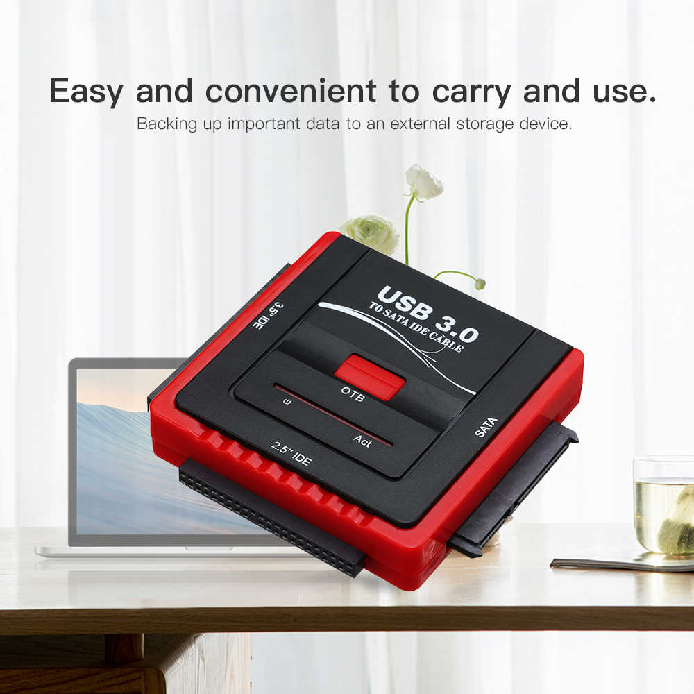 USB 3.0 إلى محول محرك الاقراص الصلبة SATA و IDE لمحرك الأقراص الصلبة العالمي 2.5/3.5 HDD/SSD الاقراص الصلبة مع امدادات الطاقة