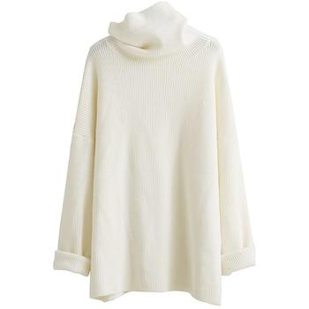 XUXI 2020 Fashion Women's Sweater Autumn Knitted Sweater Women's High Neck Long Sleeve Long Sleeve Sweater Loose FZ0414 2