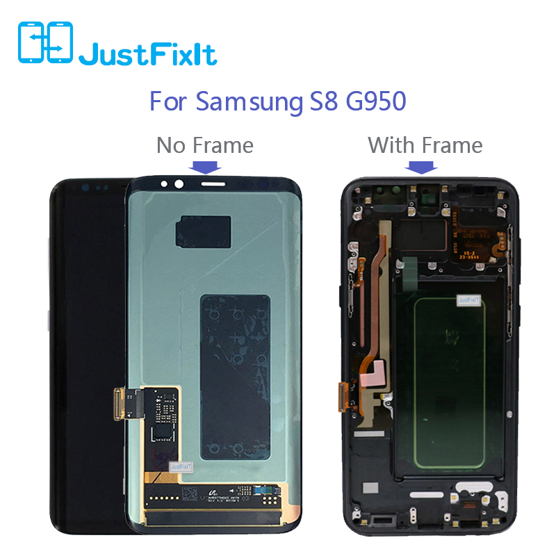 For <font><b>Samsung</b></font> Galaxy <font><b>S8</b></font> G950 G950U G950f <font><b>G950fd</b></font> S8Plus G955F Lcd <font><b>Display</b></font> With Touch Screen Digitizer Super AMOLED Screen image