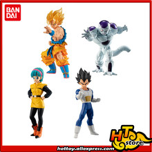 "100% Original Bandai HG Gashapon FIGURA PVC Brinquedo ALTO GRAU REAL 03-Conjunto de 4 PCS Bulma Goku Vegeta freeza ""Dragon Ball SUPER""(China)"