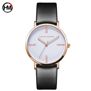 Image 5 - Japan imported movement Genuine Leather New simple design watch women fashion Luxury Brand quartz clock Ladies wrist watches