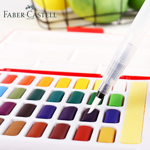 Image 3 - Faber Castell 24/36/48Color Watercolor Paint Set Professional Box With Paint Brush Portable Solid Pigment Painting Art Supplies