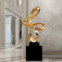 Modern Electroplated Resin Sculpture Abstract Sculpture Marble Base Statues for Decoration Home Decoration Accessories R3970