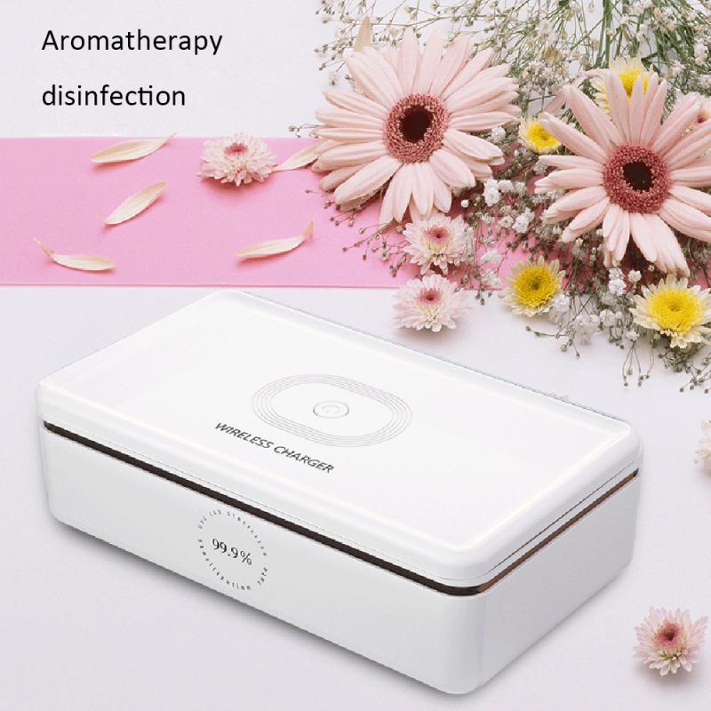 3 In1 Portable Smart Phone Disinfection UV Lights Fast Charger 15W Cordless UV Sterilizer For Mobile Phones Keys Jewellery