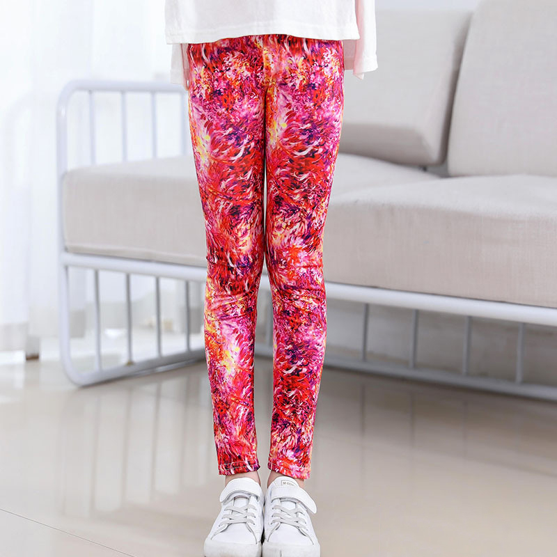 KIDS GIRLS PINK SKINNY STRETCHY TROUSERS.STRETCH WAIST,CALF-LENGTH.2-9 YEARS OLD