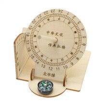 Китайский древний научный Солнечный циферблат, измерительный инструмент для измерения высоты солнца, набор деталей для сборки древесины