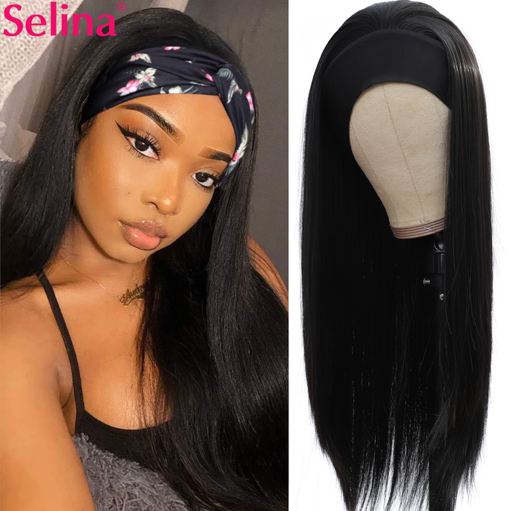 Peruca reta da cabeça para as mulheres grosso bouncy preto peruca de cabelo sintético cosplay diário lolita peruca resistente ao calor fibra kanekalo