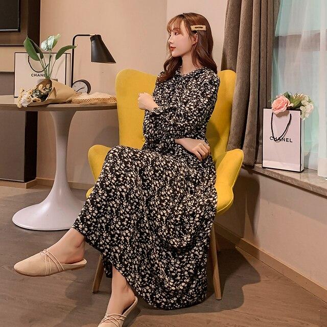 Maternity Plus Size Retro Floral Dress 2