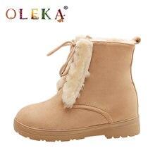 Oleka высота до середины голени зимние сапоги для женщин; Женская