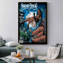 Snoop Dogg Doggystyle Tha Doggfather Neva Left Hot Albums Music Rap Hip Hop Art Painting Silk Canvas Poster Wall Home Decor