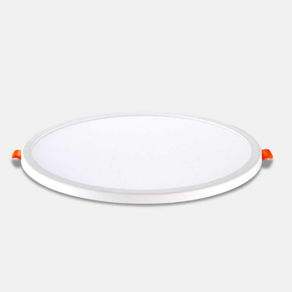Ultra Thin LED Panel 6W 8W 85-265V Aluminium Bulat Plafon Tersembunyi Downlight Lubang Terbuka dapat Disesuaikan Putih Hangat