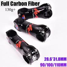 Carbon stem KRSEC T800 28.6*31.8mm 6 Degree Road/MTB 3K Gloss Carbon fiber Stems Bike Parts 90/100/110MM Bicycle Stem 3k full carbon fibre bicycle stems extender bracket stopwatch mtb road bike stem cycling parts 6 degree 31 8 80 90 100 110mm