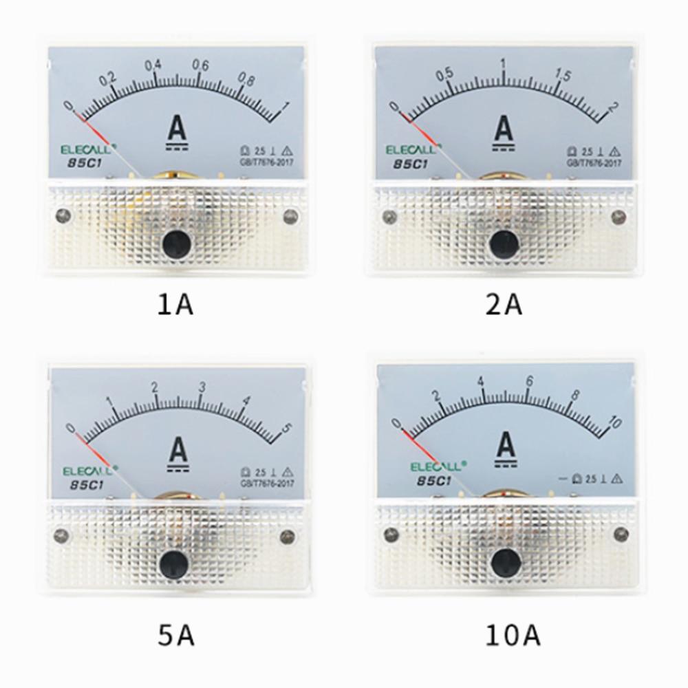 1 шт. DC Пластик аналоговые стрелочный Амперметр переменного тока Панель 1A 2A 3A 5A 10A 20A 50A 100A механические измерители тока 64*56 мм