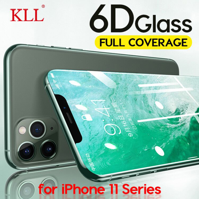 6D Curved Edge Full Cover Tempered Glass For IPhone 11 Pro Max X XS MAX XR Screen Protector Film For IPhone 6 6s 7 8 Plus Glass