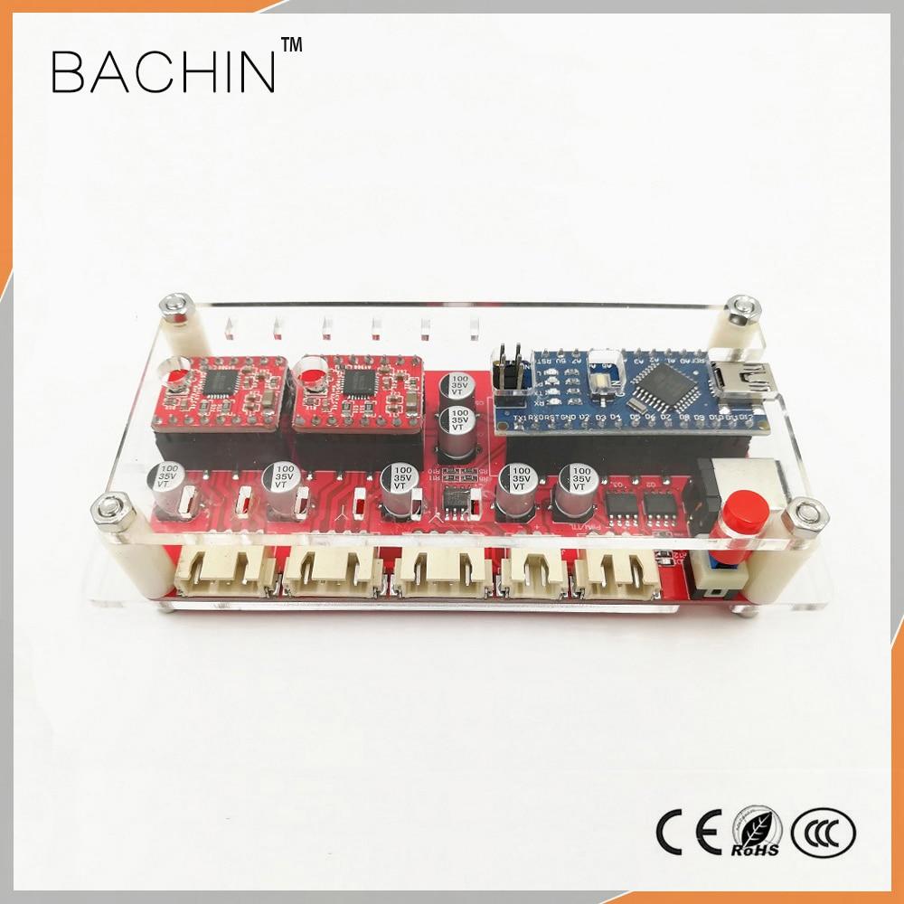 Aletler'ten Ağaç işleme Makine Parçaları'de USB 2 eksenli kontrol panosu lazer sürücü panosu CNC lazer kesici oymacı kontrol kiti step motor tahrik kontrolü desteği GRBL title=