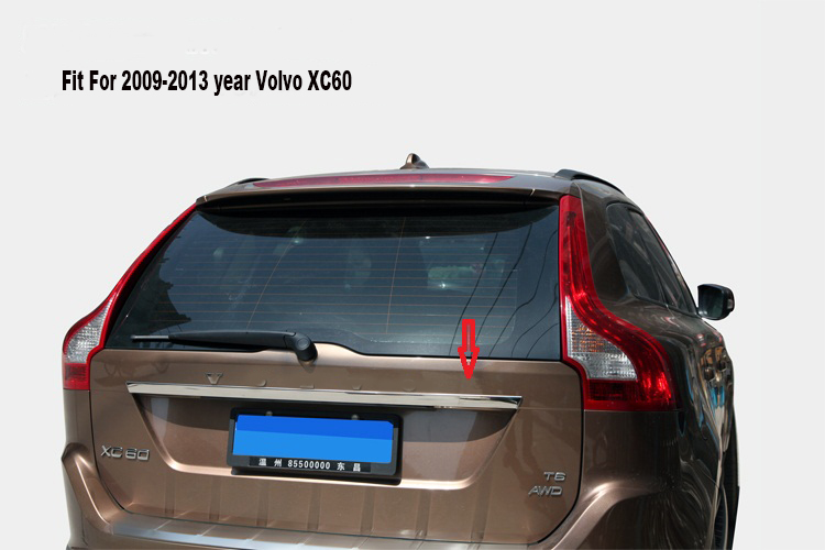 Stainless Steel Rear Trunk Lid Tail Gate Cover Trim 1pc For Volvo XC60 2018-2019