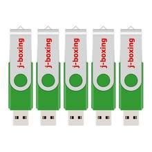 Unidad de memoria Flash de alta capacidad, lápiz de memoria giratorio de Metal de 128 GB, unidad externa portátil, almacenamiento de pulgar para ordenador y GPS, 5 uds.