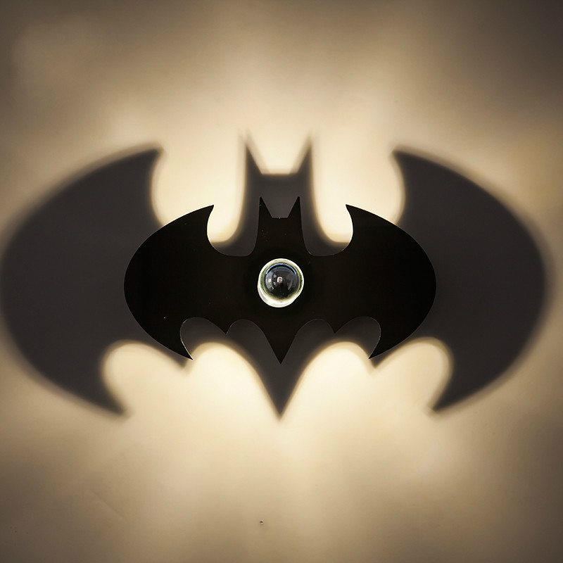 Creative Led Batman Wall Lamp Morden Bedroom Bedside Light Living Room Staircase Animal Night Light Home