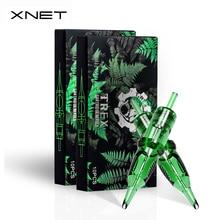 XNET Trex Tattoo Cartridge Needles 20pcs 1RL 3RL 1RM 5RM Disposable Sterilized Safety Tattoo Needle for Cartridge Machines Grips