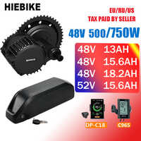 48v 500/750w Bafang Motor Kit mit Batterie 48/52v 13/15. 6/18. 2AH Elektrische Bike Kit Neue Ebike Conversion Kit 8fun BBS02 BBS02B
